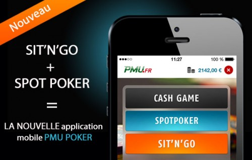 Nouvelle application mobile PMU Poker